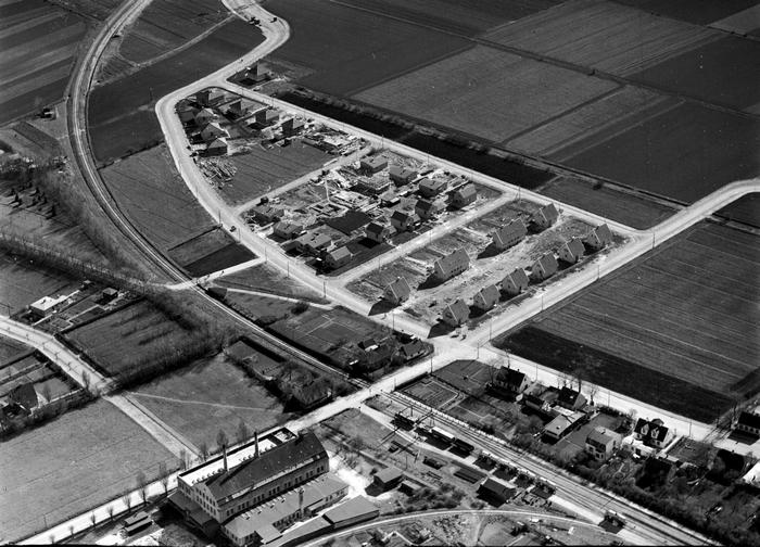 Luftfoto 1937. Det Kgl. Blbliotek.