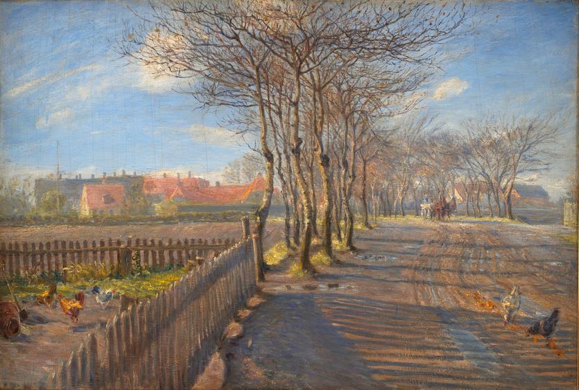 Theodor Phllipsen - En allé, Kastrup - 1891 - (SMK)