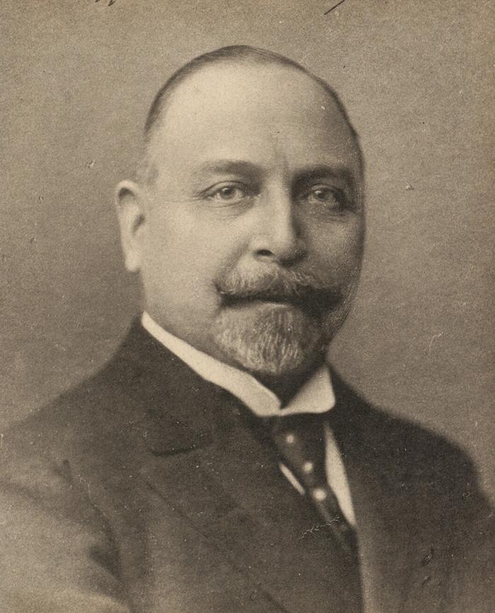 Carl Th. Zahle. Ukendt fotograf. (Det Kgl. Bibliotek)