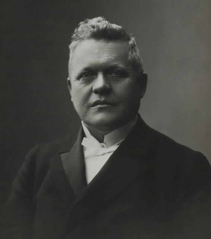 J. C. Christiensen. Foto af Lars Peter Elfelt. (Det Kgl. Bibliotek)