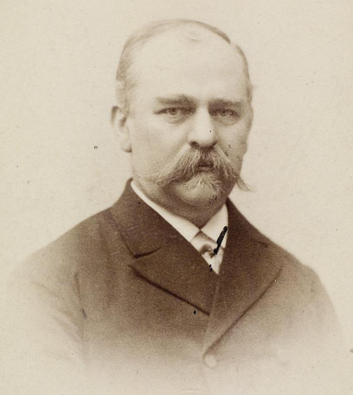 P. Knudsen. Foto af Benjamin Møller (Det Kgl. Bibliotek)