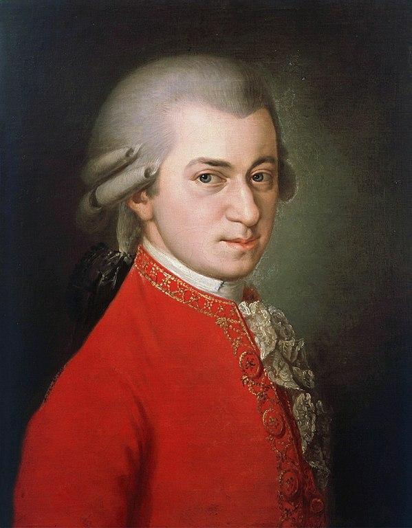 Wolfgang Amadeus Mozart. Maleri udført af Barbara Kraft, 1819.(Wikimedia Commons)