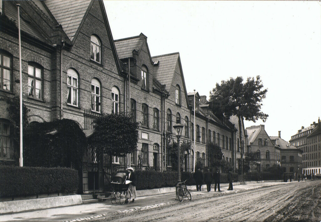 Humleby set fra Vesterfælledvej. 1915. Det Kgl. Bibliotek.